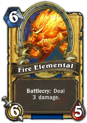 The Fire Elemental is gold because it's a much better card than Huge Toad.